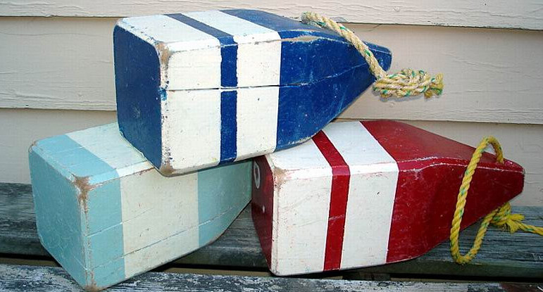 Large wooden buoys