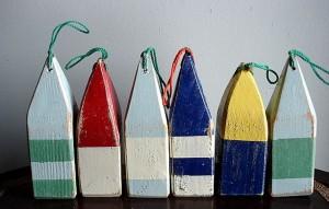 Mini wooden buoy