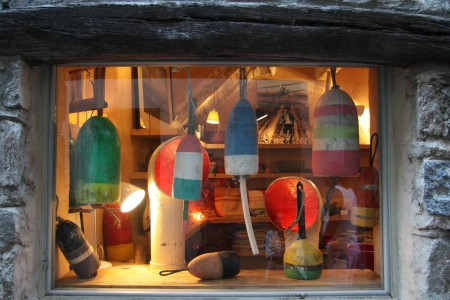 A customer's window in France featuring our buoys and cowl vents