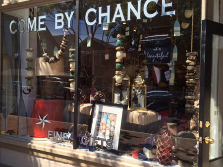 """Come By Chance"" in St. Michaels MD has a window full of our product!"