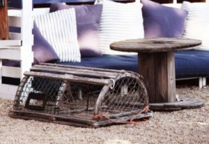 Lobster trap as décor