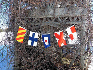 Small Signal Flags Banner