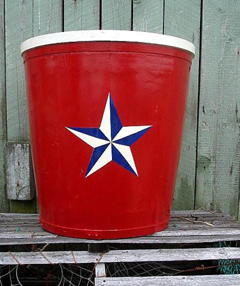 Red, white, navy blue