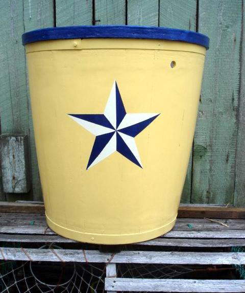 Pale yellow, navy blue, white