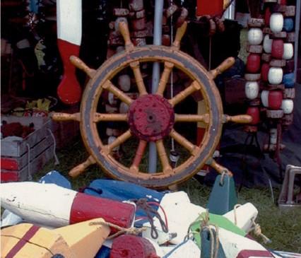 Wheel and buoys