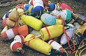 Styrofoam buoys