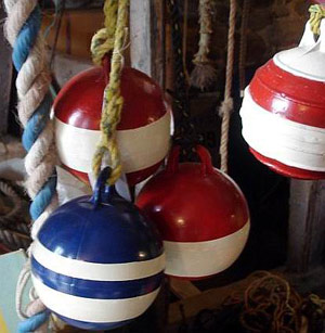 Metal Floats in primary colours
