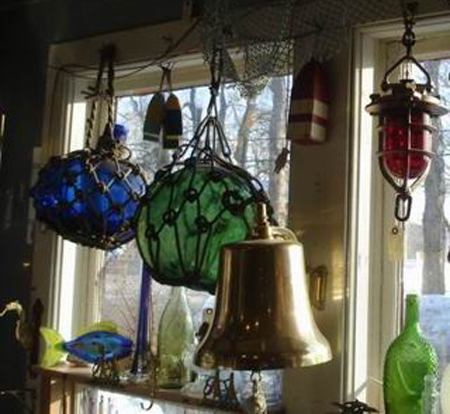 Ship's Bell and Glass Floats