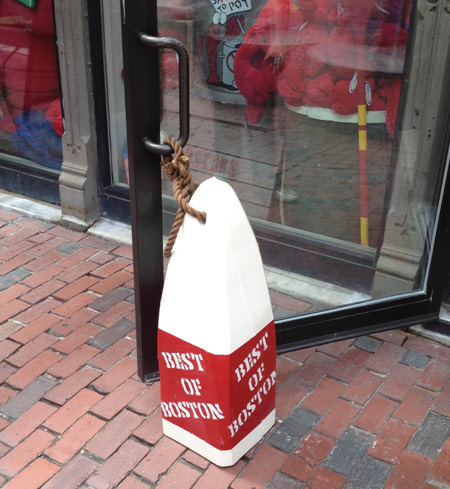 One of our extra large custom buoys at the Best of Boston event