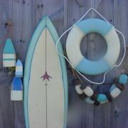 Pastel surfboard