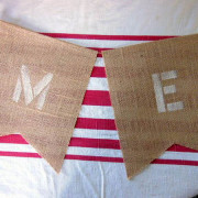 Burlap Bunting Letters